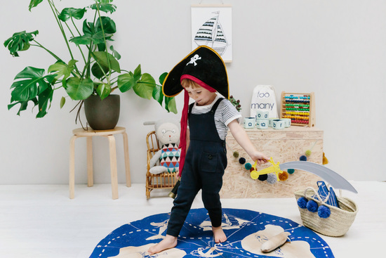 toddler pirate treasure map play mat