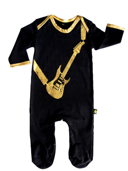 A rocking guitar sleepsuit