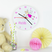 Fairy glass clock
