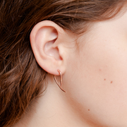 rose gold two way thorn earrings