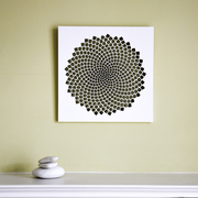 Fibonacci Spiral Woodcut Wall Art in White