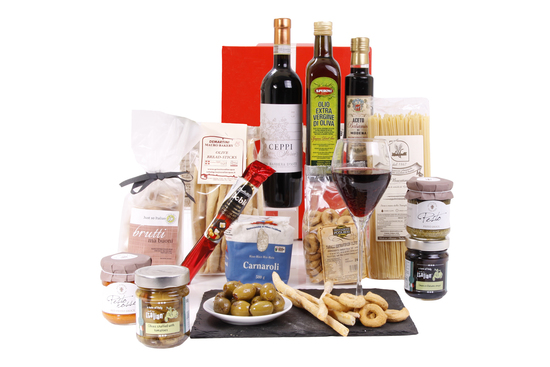 Italian Hampers - full of mouthwatering delicacies.