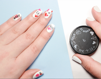Feeling romantic? express it with Apharsec All About Love nail stamp