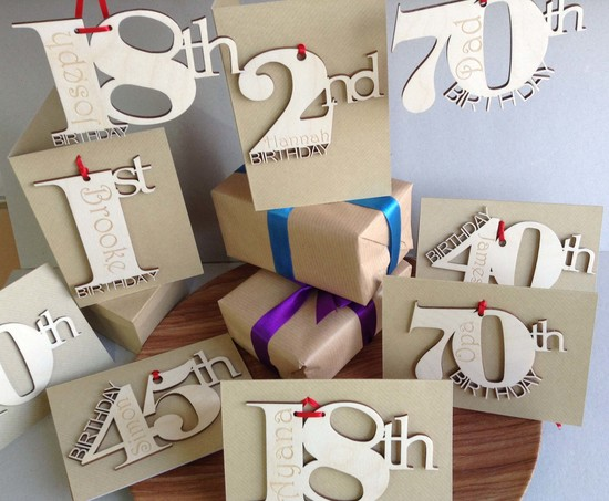 Personalised handmade special birthday cards