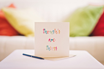 Thoughts Are Things card