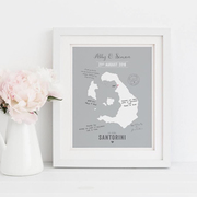 Map Wedding Guest Book Alternative