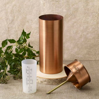 ClimeMET Traditional Copper Rain Gauge