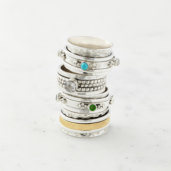 Signature Spinning Rings to calm and soothe the soul