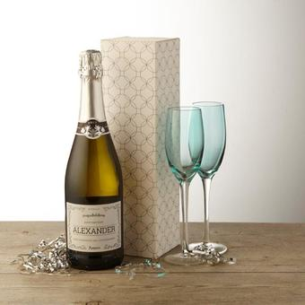 Personalised Prosecco in a variety of styles and with a choice of gift boxes