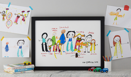 family portrait drawn by your children transformed by QuirkyLime
