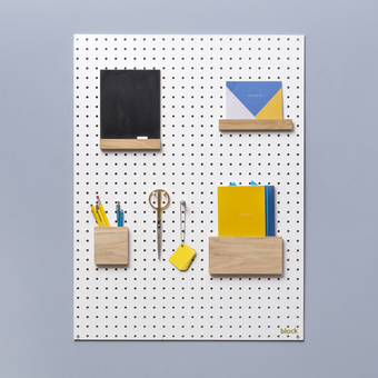 Block pegboard accessories