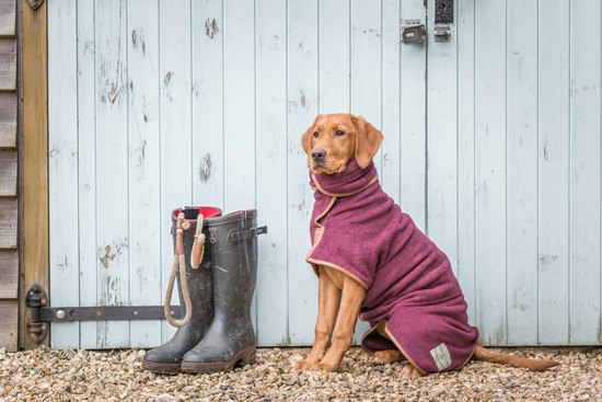 Burgundy Country Collection Dog Drying Coat