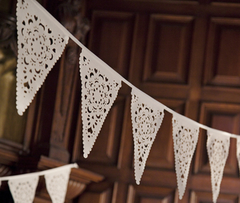 Lace Bunting, a perfect way to decorate your wedding venue