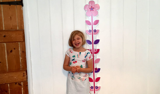 This new addition is our lovely personalised height chart