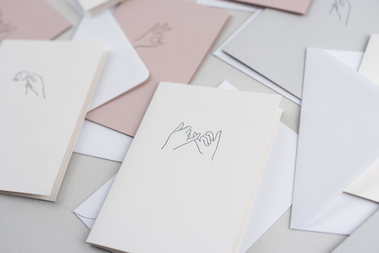 Pinky promise letterpress printed card