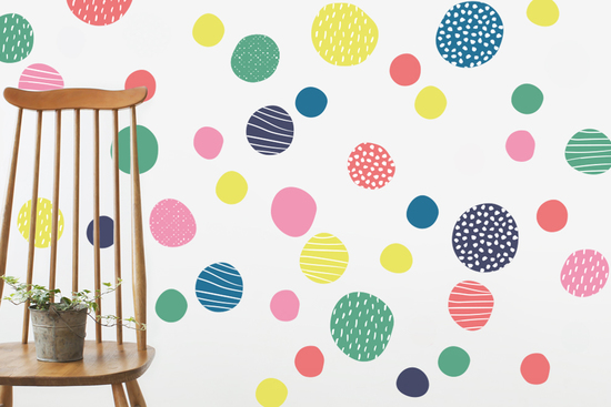 Spots fabric decal brights