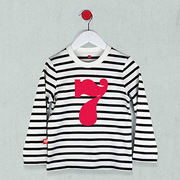 Age 7 t-shirts, number t-shirt for birthdays, black and white striped t-shirt with red number