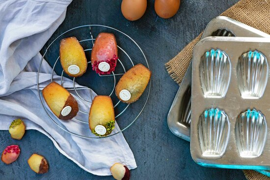 Luxury garnished madeleines