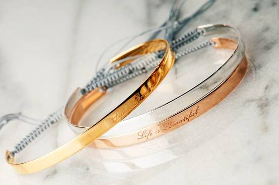 engraved bangles with beautiful quotes