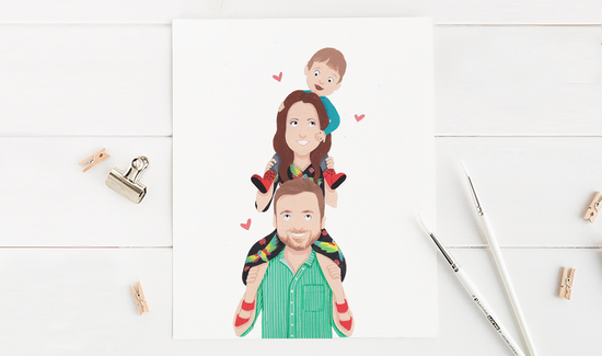 Piggyback Family Portrait by Sarah Croker