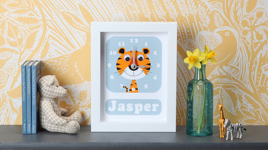 Personalised Tiger Clock