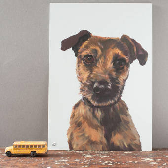 hand painted pet portraits by Gabriella Buckingham Design