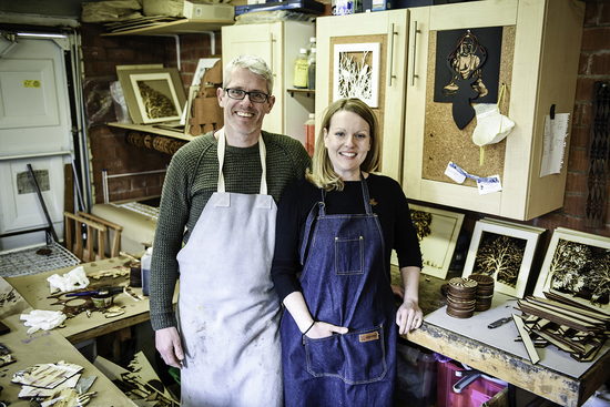 Jacqueline & Stewart in their workshop
