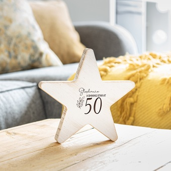 personalised wooden star keepsake gift