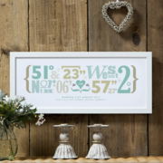 Personalised Coordinates Print by The Drifting Bear Co.