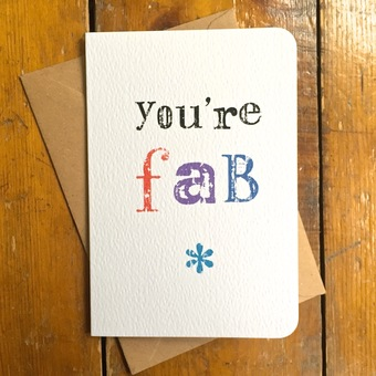 You're Fab Personalised card