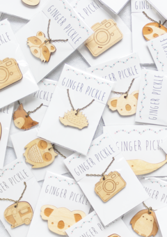 Wooden Laser Cut Animal Necklaces