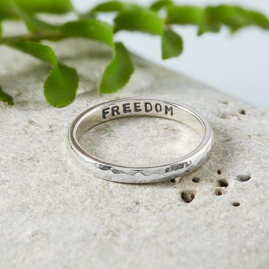 Skinny Hidden Message Ring