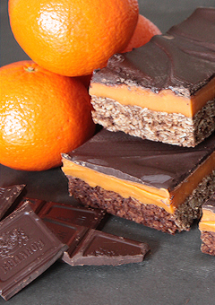 Delicious Chocolate and orange fudge flapjack