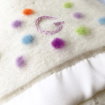Personalised Purl English cashmere blanket