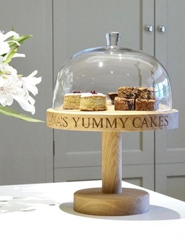 personalised oak cake stand