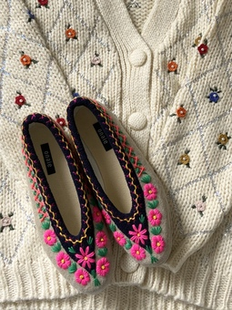 Embroidered Slippers by ONAIE