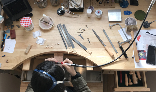 At the jewellery bench