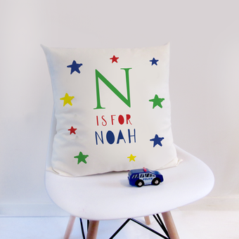 Personalised nursery cushion