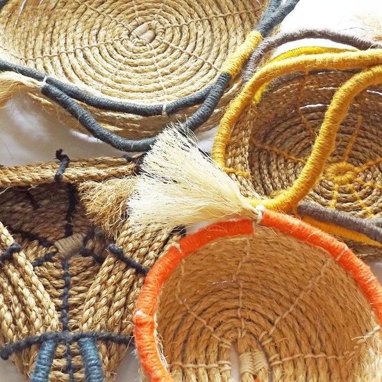 selection of rope baskets
