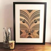 Art Deco Inspired Laser Cut Artwork