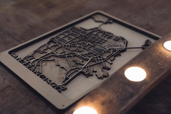 Chicago Multi Layer Wood Map