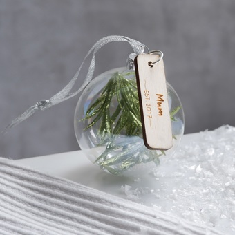 Personalised Glass Bauble Christmas Decoration