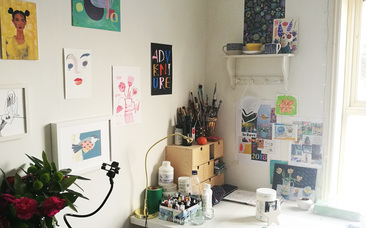 A creative corner of my winter studio