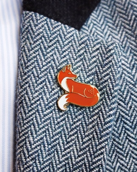 Quinn the Fox Enamel Pin