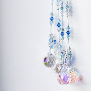blues and whites sun catcher