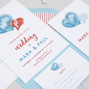 hearts wedding invitations