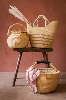 Natural Woven Shopping Baskets