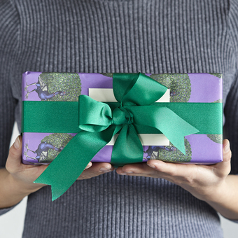 A thoughtful personalised gift in luxury gift wrap