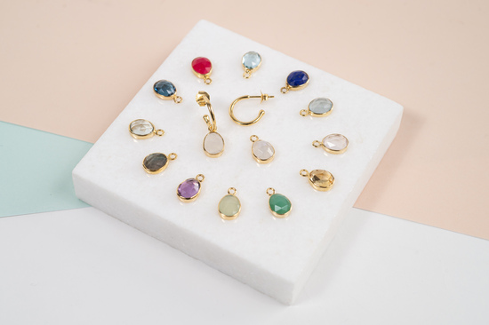 The Manhattan Interchangeable Gemstone Drops and Hoops