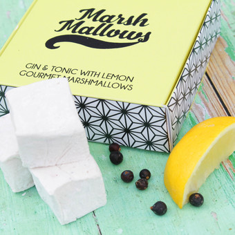 Gin & Tonic Marshmallows are presented in this wonderful and unique gift box.